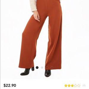 Palozzo pants with zipper on side.